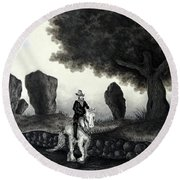 Barry Of Thierna Round Beach Towel