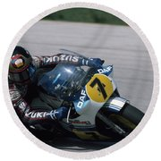 Barry Sheene. 1984 Nations Motorcycle Grand Prix Round Beach Towel