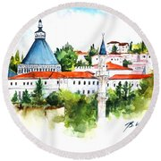 Basilica Of Annunciation, Nazareth Round Beach Towel