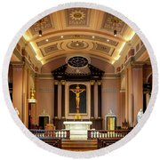 Basilica Of Saint Louis, King Of France Round Beach Towel