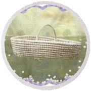 Basket Round Beach Towel
