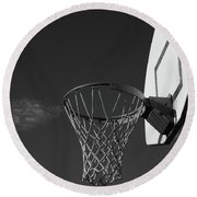 Round Beach Towel featuring the photograph Basketball Court by Richard Rizzo