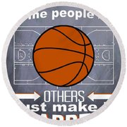Basketball Inspiration Round Beach Towel
