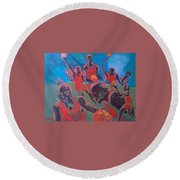 Basketball Soul Round Beach Towel