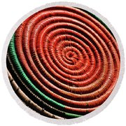 Basketry Color Round Beach Towel