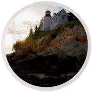 Bass Harbor Lighthouse 1 Round Beach Towel
