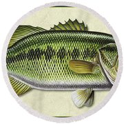 Bass Id Round Beach Towel