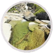 Round Beach Towel featuring the photograph Bassi Bliss by Sean Sarsfield