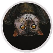 Bat Round Beach Towel by Michael Creese