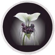 Bat Plant Round Beach Towel