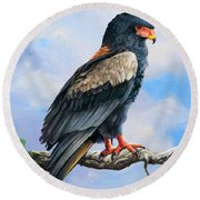 Bateleur Eagle Round Beach Towel by Anthony Mwangi