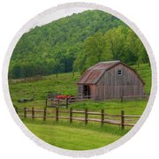 Round Beach Towel featuring the photograph Bath Barn 0428a by Guy Whiteley