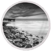 Round Beach Towel featuring the photograph Bathe In The Winter Sun by Edward Kreis