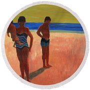 Bathers 88 Round Beach Towel