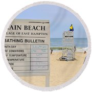 Bathing Bulletin Round Beach Towel