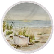 Bathtub Beach Round Beach Towel