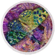 Batik Butterfly Round Beach Towel