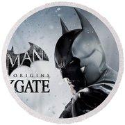 Batman Arkham Origins Blackgate Round Beach Towel