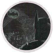 Batman Round Beach Towel