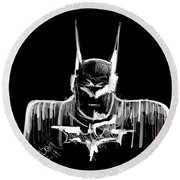 Batman..... V2.17 Round Beach Towel
