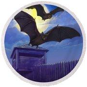 Batsfly Round Beach Towel