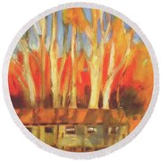 Batsto Coop Round Beach Towel by Mary Hubley