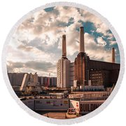 Battersea Round Beach Towel by Giuseppe Torre