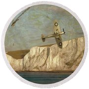 Battle Of Britain Over Dover Round Beach Towel