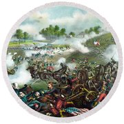 Battle Of Bull Run Round Beach Towel