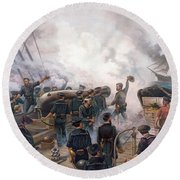 Battle Of Cherbourg Round Beach Towel