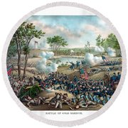 Battle Of Cold Harbor Round Beach Towel