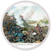 Battle Of Franklin - Civil War Round Beach Towel