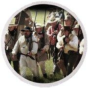 Battle Of San Jacinto Round Beach Towel by Kim Henderson