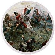 Battle Of Waterloo Round Beach Towel