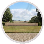 Historic View Round Beach Towel