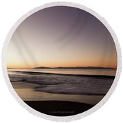 Bay At Sunrise Round Beach Towel