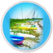 Bay Break Round Beach Towel