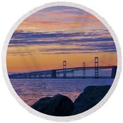 Bay Bridge Round Beach Towel