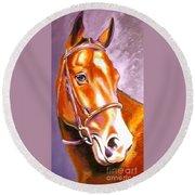 Oldenburg Sport Horse Champion Round Beach Towel
