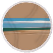 Bay Cloud Round Beach Towel
