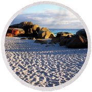 Bay Of Fires Sunrise Round Beach Towel