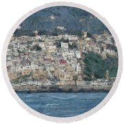 Bay Of Tangier Round Beach Towel