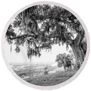 Bay Street Oak View Round Beach Towel