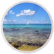 Bayahibe Coral Reef Round Beach Towel