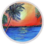 Baycrest Round Beach Towel by Ecinja Art Works