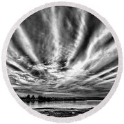 Bayfarm Island Sunrise Round Beach Towel