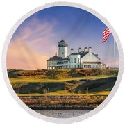 Bayonne Golf Club Round Beach Towel