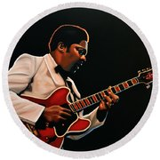 B. B. King Round Beach Towel by Paul Meijering
