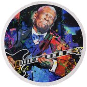 Bb King Round Beach Towel