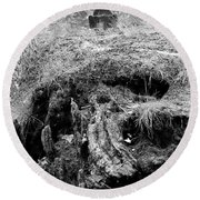 Round Beach Towel featuring the photograph Bbbbbbbbb by Steven Macanka